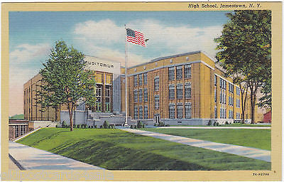 HIGH SCHOOL, JAMESTOWN, NY - POSTCARD (ref 5700/13)