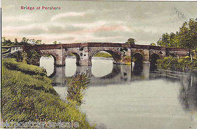 BRIDGE AT PERSHORE - OLD POSTCARD (ref 2393/102)