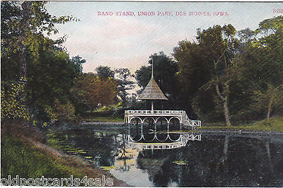 BAND STAND, UNION PARK, DES MOINES, IOWA (ref 5659/13)
