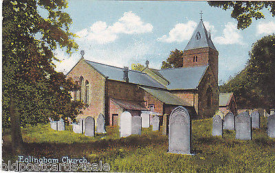 EGLINGHAM CHURCH, NORTHUMBERLAND - 1909 POSTCARD (ref 1599/14/Y)