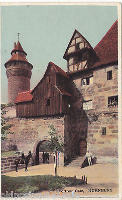 FORTRESS GATE, NURNBERG - OLD POSTCARD (ref 2894)