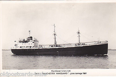 MV MANCHESTER VANGUARD - MANCHESTER LINERS LTD- REAL PHOTO POSTCARD (ref 7139/14