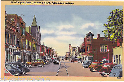 WASHINGTON STREET LOOKING SOUTH, COLUMBUS, INDIANA (ref 5593/13)