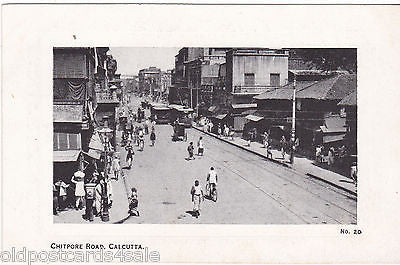 CHITPORE ROAD, CALCUTTA - OLD POSTCARD - INDIA (ref 4907/12)