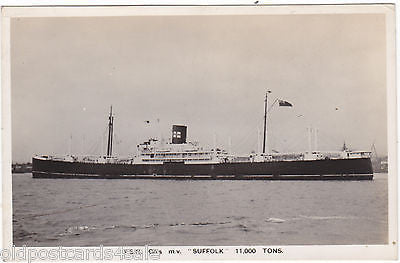 FSN Co's MV SUFFOLK - REAL PHOTO POSTCARD (ref 6066/13s)