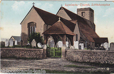LYMINSTER CHURCH, LITTLEHAMPTON - c1920 POSTCARD (ref 2296)