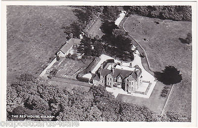 THE RED HOUSE, KELHAM - AERIAL REAL PHOTO POSTCARD (ref 5134/12)