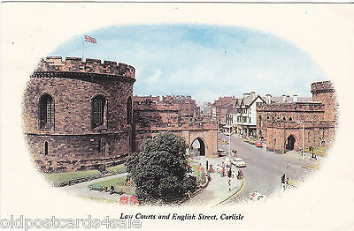 LAW COURTS & ENGLISH STREET, CARLISLE - OLD POSTCARD (ref DEB1824)