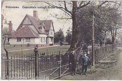 FELIXSTOWE, CONSTABLE'S COTTAGE BROOK LANE - SUITALL SERIES POSTCARD (ref 3375)