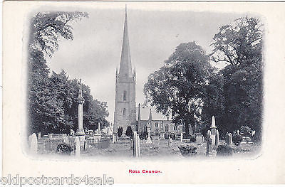 ROSS CHURCH - OLD POSTCARD - ROSS ON WYE (ref 7204/14)