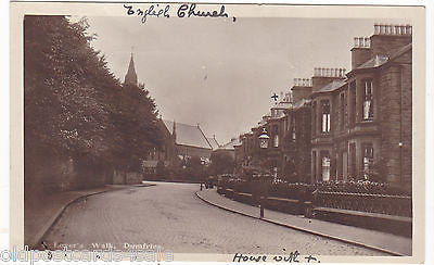 LOVER'S WALK, DUMFRIES - 1915 PHOTO POSTCARD