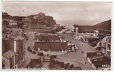VIEW FROM ST JAMES' CHURCH TOWER, ILFRACOMBE REAL PHOTO POSTCARD (ref 5136/12)