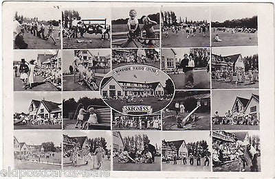 WOODSIDE HOLIDAY CENTRE, SKEGNESS, MULTIVIEW REAL PHOTO c1950s (ref 2668)