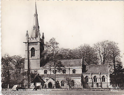 ST JAMES' CHURCH, PERLETHORPE - MODERN SIZE REAL PHOTO POSTCARD (ref 5563/13)