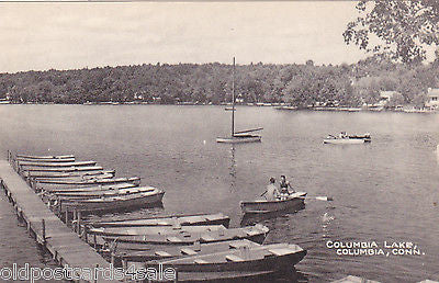 COLUMBIA LAKE, COLUMBIA, CONN. - BOATS (ref 4816/12)