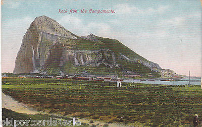 ROCK FROM CAMPAMENTO - GIBRALTAR POSTCARD (ref 2900)