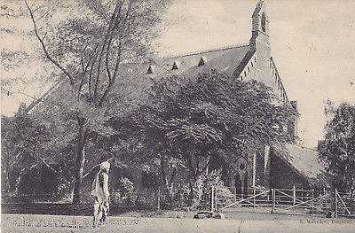 ST MARY'S CHURCH BELGAUM - OLD INDIA POSTCARD (ref 5565/13)
