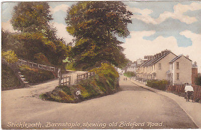 STICKLEPATH, BARNSTAPLE SHEWING OLD BIDEFORD ROAD - POSTCARD (ref DEB6552/13P)