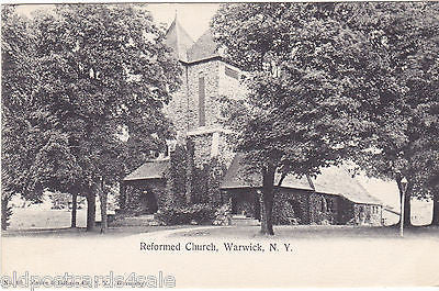 WARWICK, NY - REFORMED CHURCH - OLD POSTCARD
