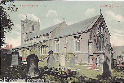 PARISH CHURCH, ILKLEY - 1905 POSTCARD (ref 4280/12)