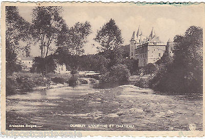 DURBUY - L'OURTHE ET CHATEAU - OLD POSTCARD (our ref 1231)