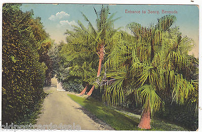 ENTRANCE TO SONCY, BERMUDA - OLD POSTCARD (ref 5995/13)