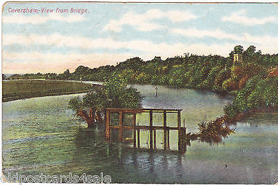 CAVERSHAM - VIEW FROM BRIDGE - EARLY  POSTCARD (ref 2088/14/Y)