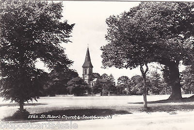 ST PETER'S CHURCH & SOUTHBOROUGH - REAL PHOTO POSTCARD (ref 5334/15)