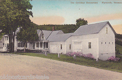 COOLIDGE HOMESTEAD, PLYMOUTH, VERMONT - OLD POSTCARD (ref 4930/12)