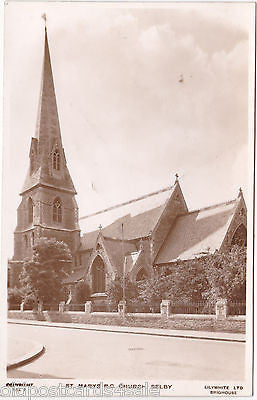 ST MARY'S R.C. CHURCH, SELBY - REAL PHOTO POSTCARD - REJECT? (ref 5663/13)