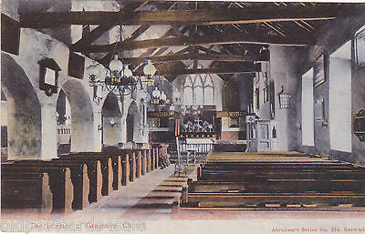 INTERIOR, GRASMERE CHURCH - PRE 1918 POSTCARD BY ABRAHAM (ref 1954)