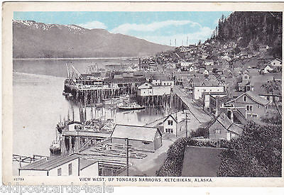 VIEW WEST UP TONGASS NARROWS, KETCHIKAN ALASKA postcard