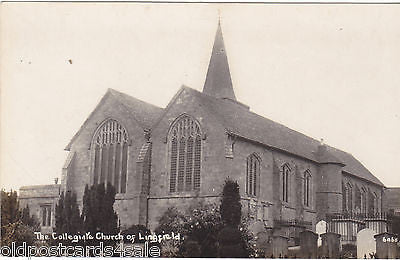 COLLEGIATE CHURCH OF LINGFIELD - 1926 REAL PHOTO POSTCARD (ref 5085/16)
