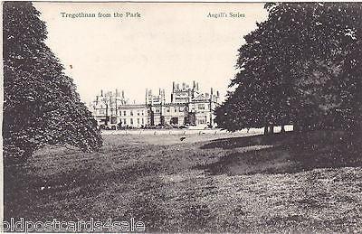 TREGOTHNAN FROM THE PARK - OLD POSTCARD (ref 3501)