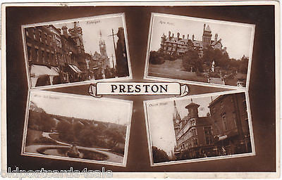 PRESTON, REAL PHOTO MULTIVIEW, cLATE 1920s POSTCARD (ref 5842/13)