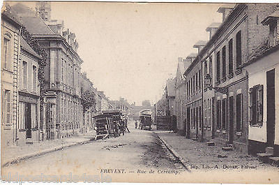 FREVENT - RUE DE CERCAMP - 1916 POSTCARD - FRANCE