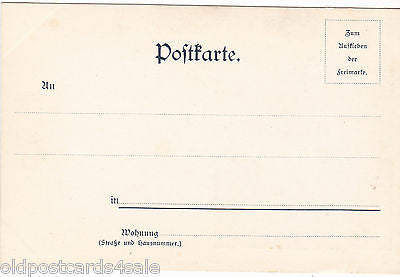 GRUSS AUS - 1898 POSTCARD - PUBLISHED IN HAMBURG (ref 3855)