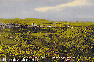 UPPER SHERINGHAM FROM PRETTY CORNER - COLOUR POSTCARD (ref 5196/12)