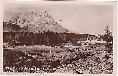 KINGSHOUSE HOTEL AND SHRON GREISE, GLEN COE - RP POSTCARD J B WHITE (ref 4681/13