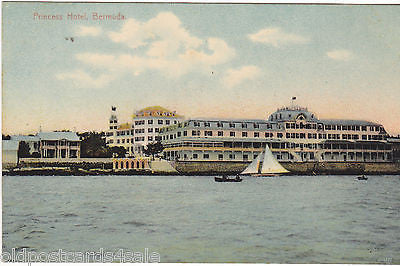 PRINCESS HOTEL, BERMUDA - OLD POSTCARD (ref 2306/15)