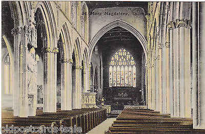 ST MARY MAGDALENE, TAUNTON - CHURCH INTERIOR - OLD POSTCARD (ref 1871/15)