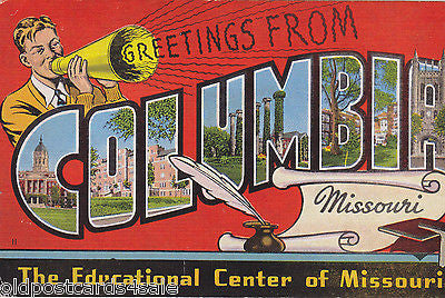 GREETINGS FROM COLUMBIA, MISSOURI (ref 5647/13)