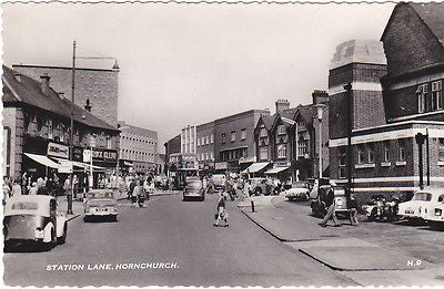 Station Lane, Hornchurch 1960s postcard
