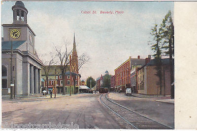 BEVERLY, MASS.- CABOT STREET, OLD POSTCARD (ref 1828)