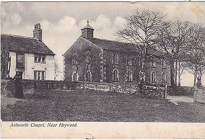 ASHWORTH CHAPEL, NEAR HEYWOOD - PRE 1918 POSTCARD (ref DEB4363/12)