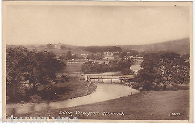 SETTLE, VIEW FROM COMMOCK - OLD FRITH POSTCARD (2592)