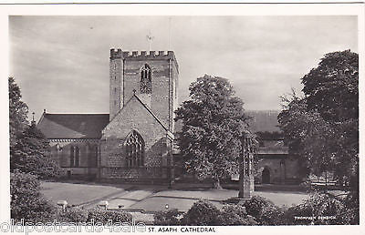 ST ASAPH CATHEDRAL - REAL PHOTO POSTCARD (ref 5204/12)