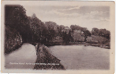 THE NEW ROAD, WATERWORKS VALLEY, JERSEY - PRE 1918 POSTCARD (ref 1862/15/0)