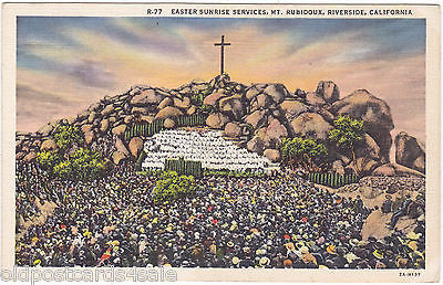 EASTER SUNRISE SERVICES, MT RUBIDOUX, RIVERSIDE, CALIFORNIA (ref 5701/13)