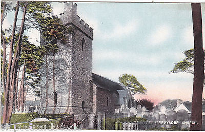 RHAYADER CHURCH - OLD POSTCARD (ref 4986/12)